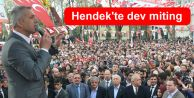 Hendek'te dev miting
